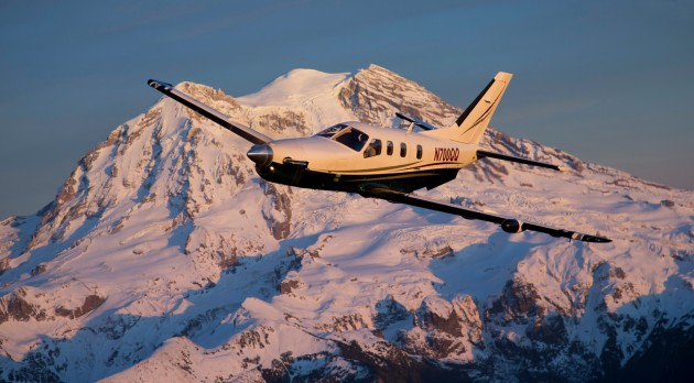 TBM 700 near Mt. Rainier