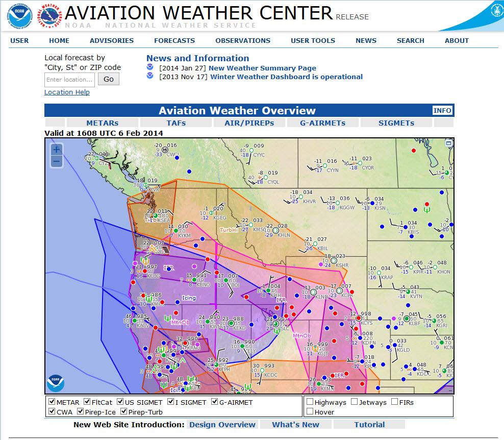 Aviation Weather Center Updates   BruceAir, LLC (bruceair.com)