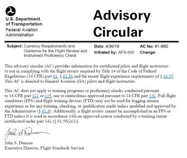 FAA-AC61-98